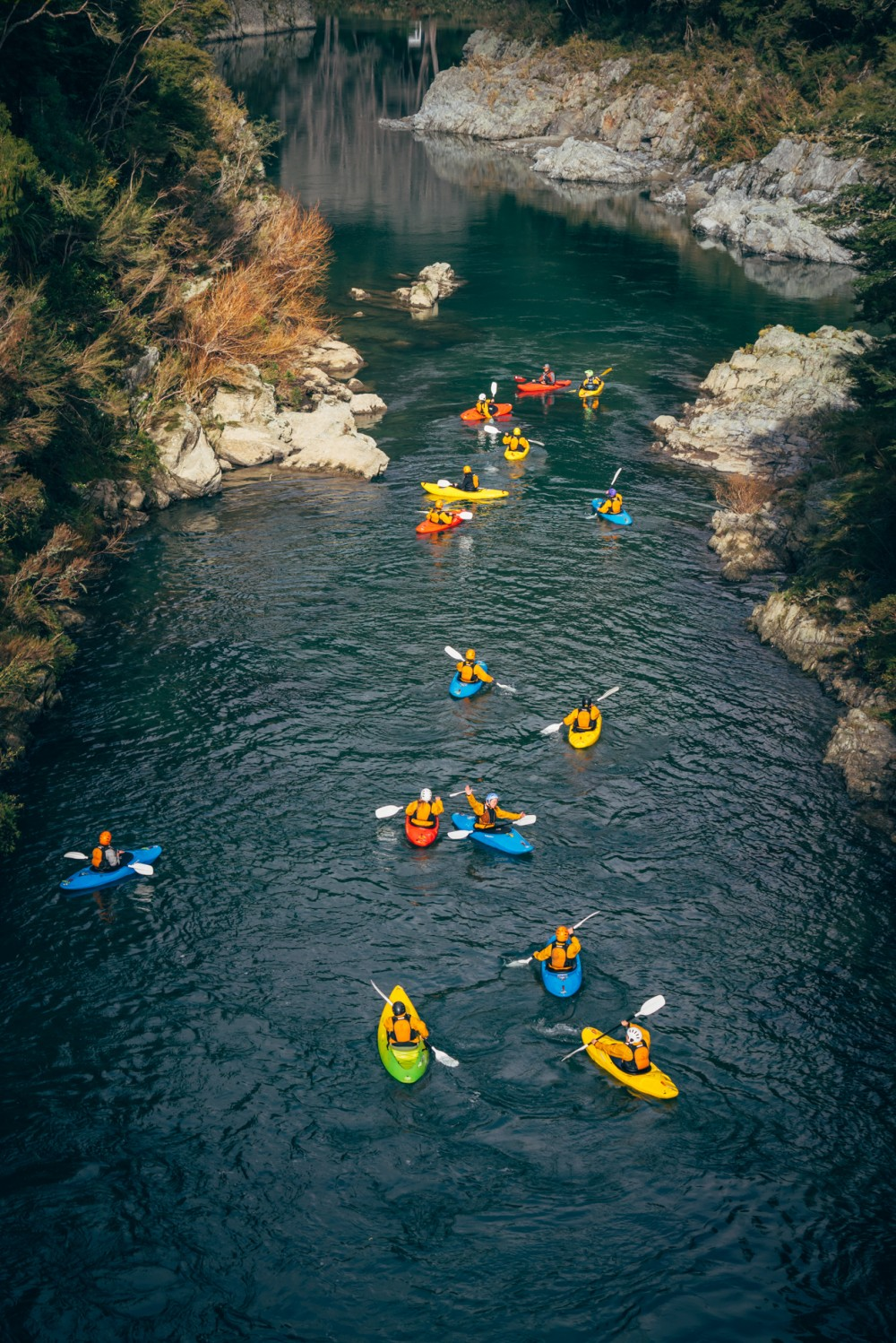 Kayaking on an Outward Bound course